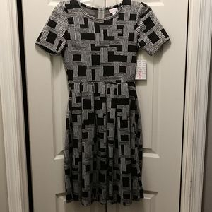 Brand New Black and Grey Lularoe Amelia Dress